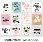 happy mother's day illustration | Shutterstock .eps vector #608870951