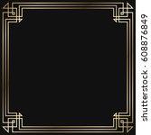 vintage retro style invitation  ... | Shutterstock .eps vector #608876849