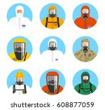 chemical industry icons set....   Shutterstock .eps vector #608877059