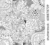 tracery seamless pattern.... | Shutterstock .eps vector #608878739