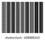 seamless tire tracks  tread... | Shutterstock .eps vector #608888165