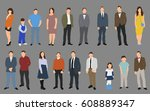 vector  isolated  people... | Shutterstock .eps vector #608889347