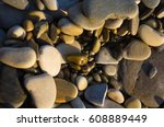 sea pebble beach with... | Shutterstock . vector #608889449