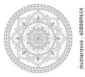 flower mandala. vintage... | Shutterstock .eps vector #608889614