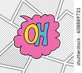 comic book speech bubble ...   Shutterstock .eps vector #608889731