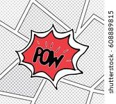 comic book speech bubble ...   Shutterstock .eps vector #608889815