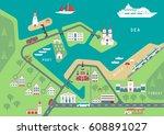 vector scheme of nonexistent... | Shutterstock .eps vector #608891027
