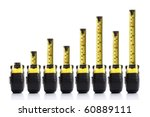 tape measure bar graph concept | Shutterstock . vector #60889111