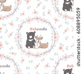 seamless background. pattern... | Shutterstock .eps vector #608895059