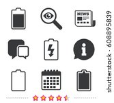 battery charging icons....   Shutterstock .eps vector #608895839
