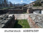 ruins of the ancient greek city ... | Shutterstock . vector #608896589