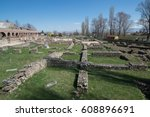 ruins of the ancient greek city ... | Shutterstock . vector #608896691