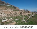 ruins of the ancient greek city ... | Shutterstock . vector #608896835