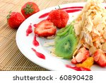 salad from fruit and berries... | Shutterstock . vector #60890428
