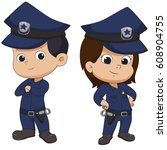 police kid standing.vector and...