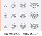 staff people icons set.... | Shutterstock .eps vector #608915867