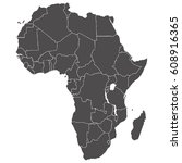 accurate map of the african... | Shutterstock . vector #608916365