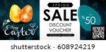 easter sale illustration....   Shutterstock . vector #608924219