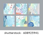 set of artistic creative... | Shutterstock .eps vector #608925941