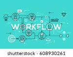 infographic banner with... | Shutterstock .eps vector #608930261