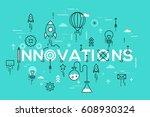 innovations  innovative ideas ... | Shutterstock .eps vector #608930324