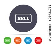 sell sign icon. contributor...   Shutterstock .eps vector #608931791