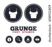 grunge post stamps. women t...   Shutterstock .eps vector #608931809