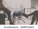 working process at coworking... | Shutterstock . vector #608932661