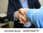 meeting with employers | Shutterstock . vector #608936879