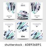 vector trendy brochure... | Shutterstock .eps vector #608936891