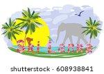 sri lanka tourism  vacation ... | Shutterstock .eps vector #608938841