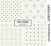 set of four seamless patterns....   Shutterstock .eps vector #608939885