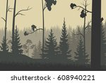 forest  nature. vector. | Shutterstock .eps vector #608940221