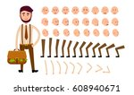 cartoon man constructor... | Shutterstock .eps vector #608940671