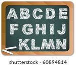 vector   chalk alphabet on... | Shutterstock .eps vector #60894814