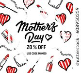 mothers day sale. fashion...   Shutterstock .eps vector #608950259