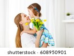 happy mother's day  child... | Shutterstock . vector #608950901
