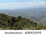 the rift valley of ethiopia in... | Shutterstock . vector #608953595