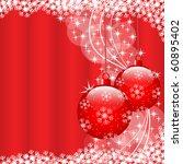 christmas scene with hanging... | Shutterstock . vector #60895402