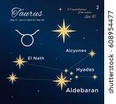 taurus. high detailed vector... | Shutterstock .eps vector #608954477