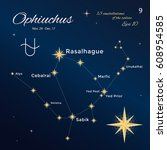ophiuchus. high detailed vector ... | Shutterstock .eps vector #608954585