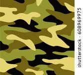 camouflage pattern background... | Shutterstock .eps vector #608969975