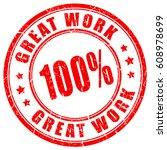 great work rubber vector stamp...   Shutterstock .eps vector #608978699