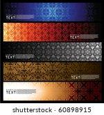 seamless background banner | Shutterstock .eps vector #60898915