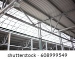 metal and glass celling... | Shutterstock . vector #608999549