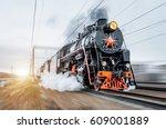 Vintage Black Steam Locomotive...