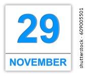 november 29. day on the... | Shutterstock . vector #609005501