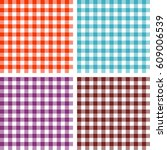 picnic table cloth. color... | Shutterstock .eps vector #609006539