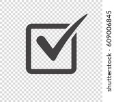 check mark icon on transparent...   Shutterstock .eps vector #609006845