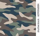 camouflage pattern background... | Shutterstock .eps vector #609006884